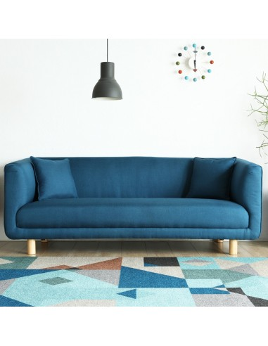 Bergen bleu : Canapé scandinave 3...