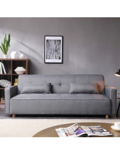Copenhague : Canapé scandinave convertible 3 places gris
