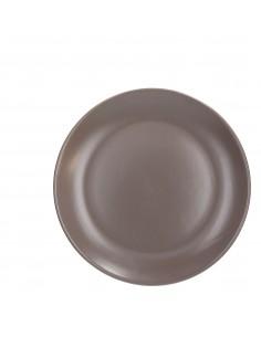 Assiette Plate ø26cm Campana Taupe